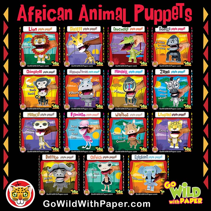African Animal Puppets
