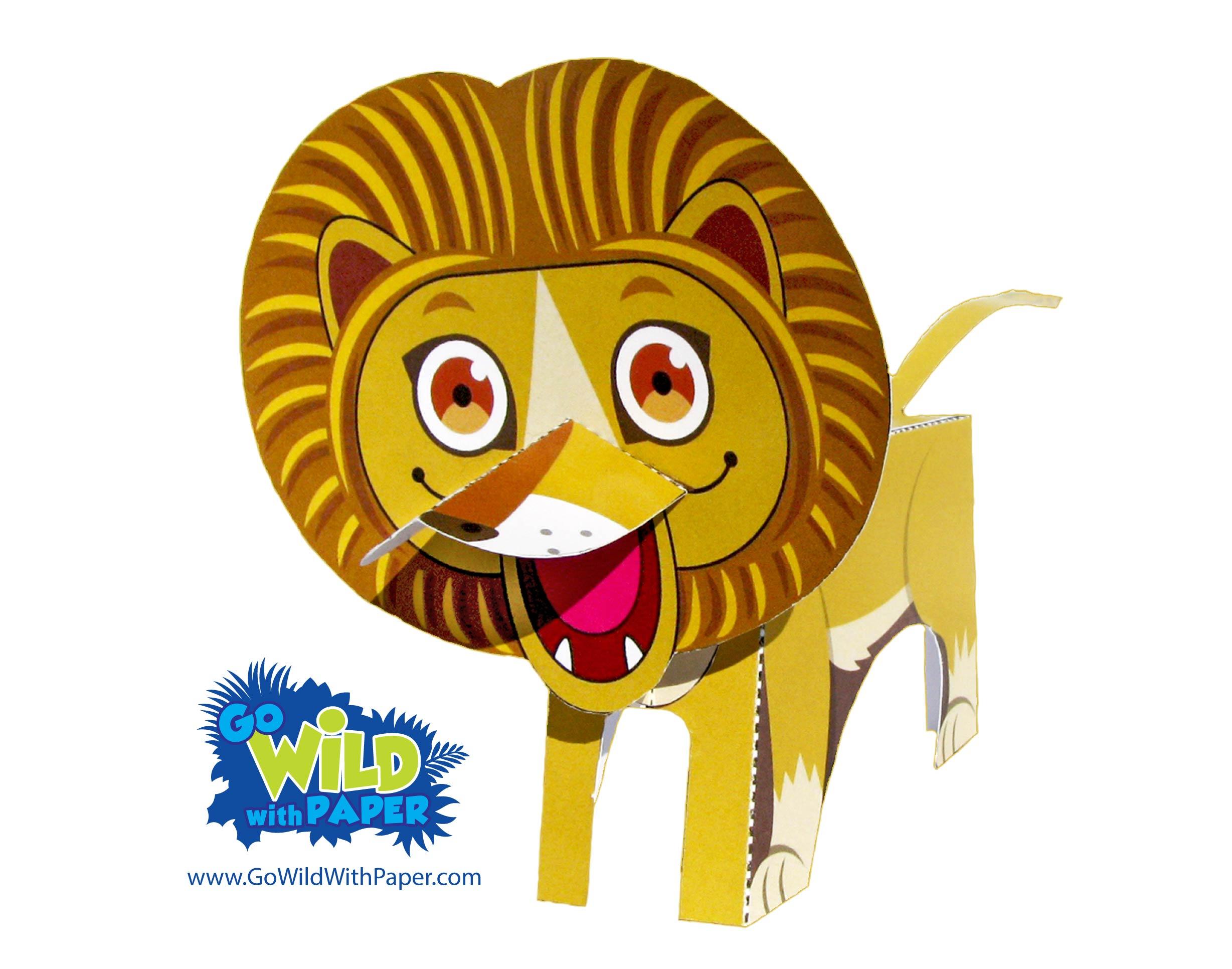 Lion Paper Model