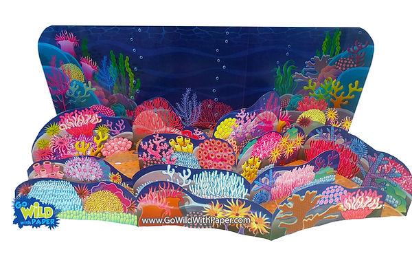 printable coral reef diorama template.jp