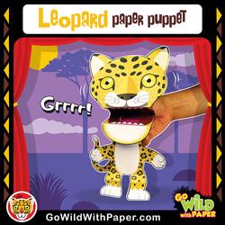 Printable Leopard Puppet