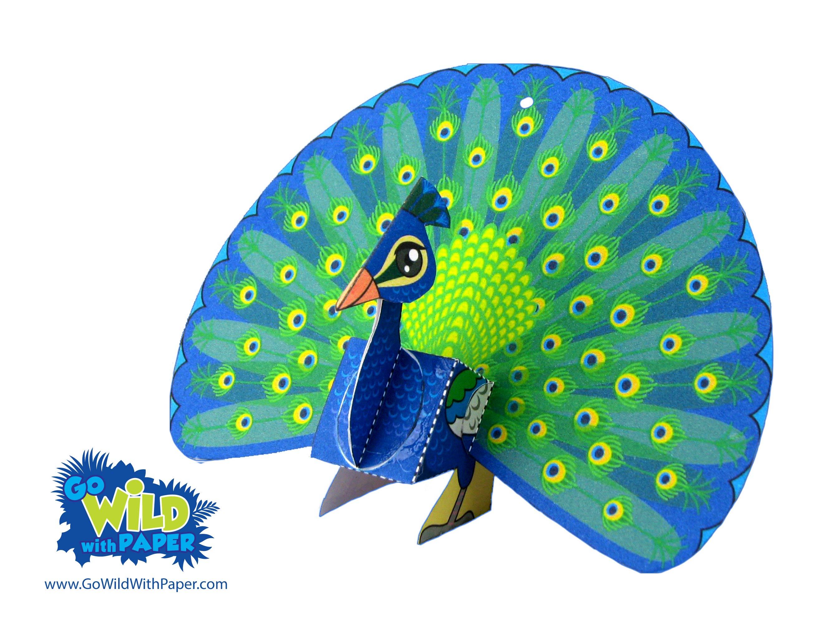Peacock Paper Model