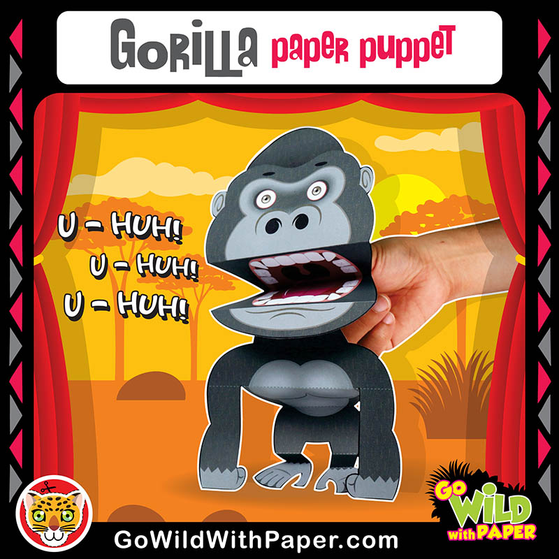 Printable Gorilla Puppet