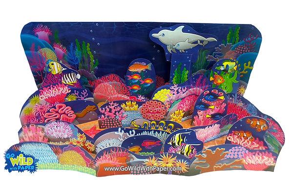 coral reef diorama