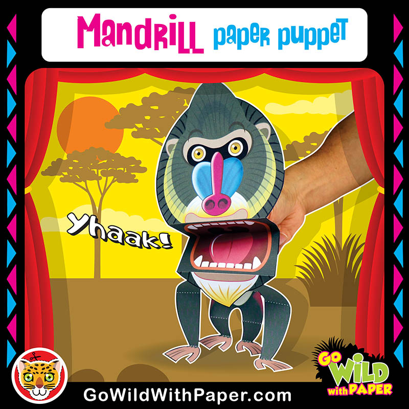 Printable Mandrill Puppet