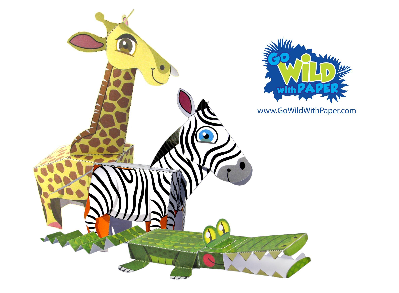 Animal Paper Model BUNDLE