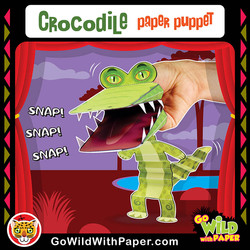 Printable Crocodile Puppet