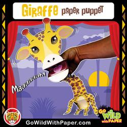 Printable Giraffe Puppet