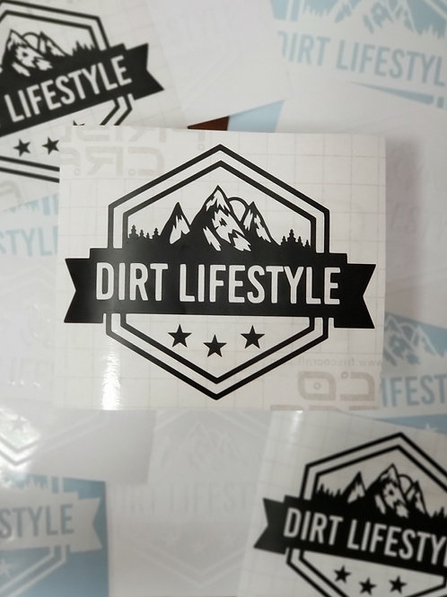 Dirt Lifestyle Logo Stickers