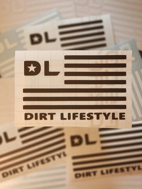 Dirt Lifestyle Flag Transfer Sticker