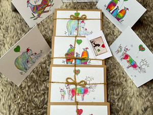 NEW Festive Reindeer & Turtle Dove Christmas Cards