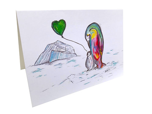 Happy Feet Greeting Cards