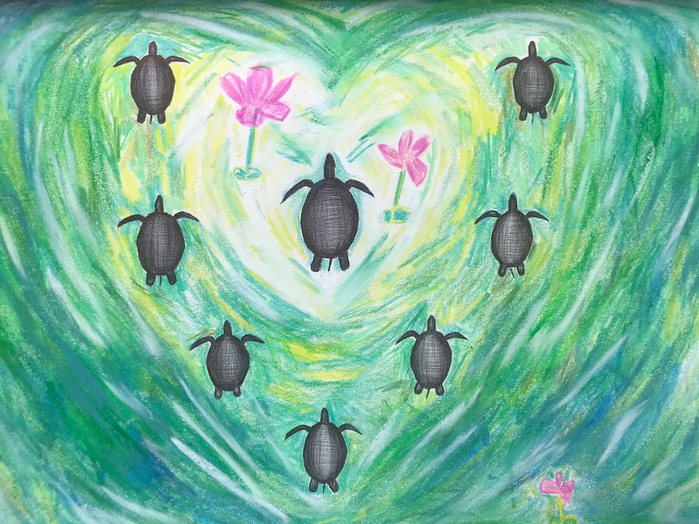 Turtles with heart