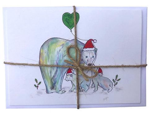 NEW Polar Bear & Penguin Christmas Cards