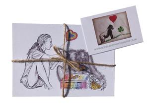 NEW Postcards featuring Jane Goodall with David Greybeard