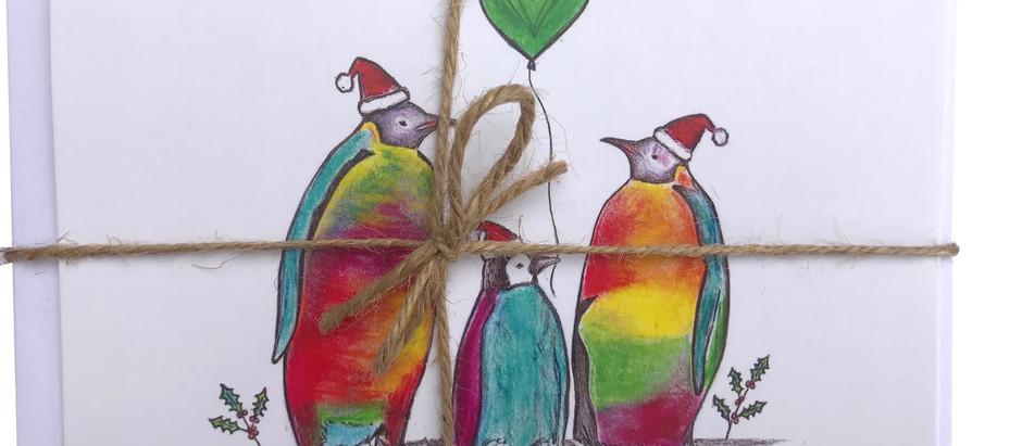 Jolly Penguin & Polar Bear Christmas Cards