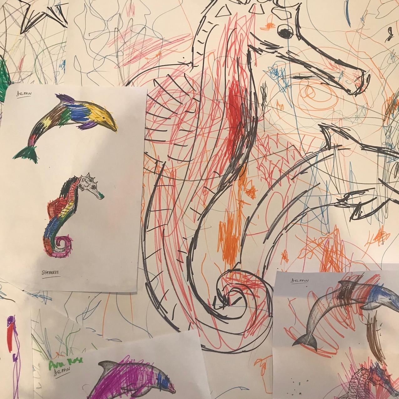 Seahorse Drawings Workshop 1 - 23.01.19.