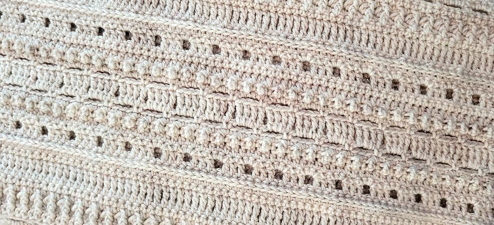 Wendover Crochet Scarf in Pride by Forbidden Fiber Co in Archangel's Wings
