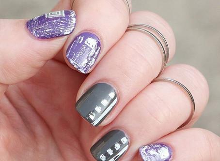 Distressed Geometric Nails
