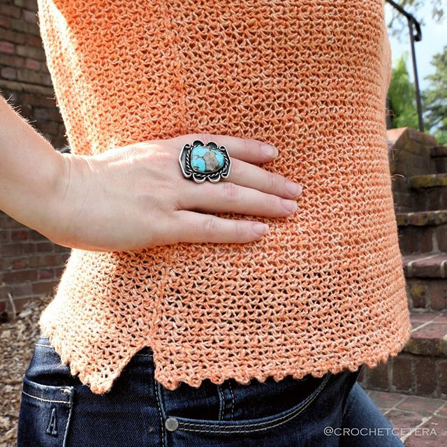 Soulfire Top, Hem Detail, designed and crocheted by Connie Lee Lynch of CrochEt Cetera by Connie Lee