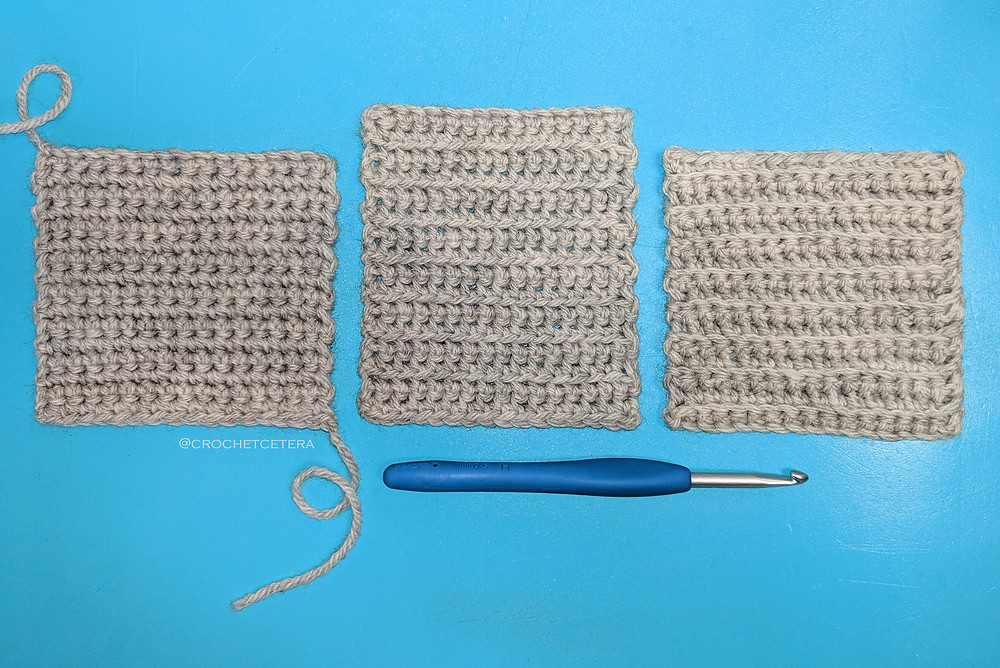 Single Crochet Three Ways: Both Loops, FLO, and BLO