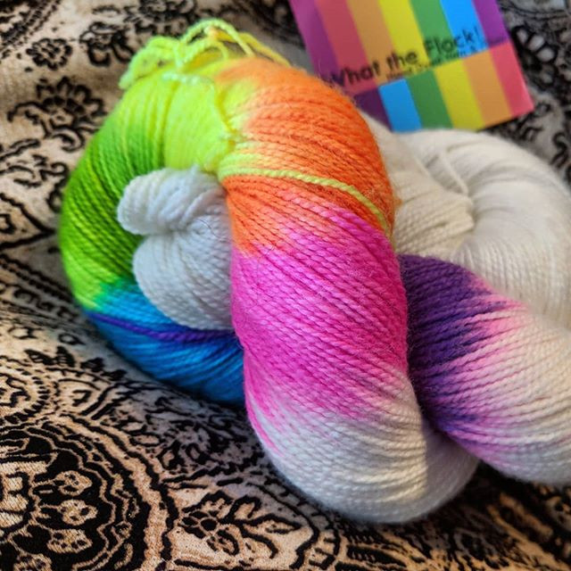 Marsha Mellow Goes to a Rave by Joe Cole of What the Flock! Hand Dyed Yarn & Fiber
