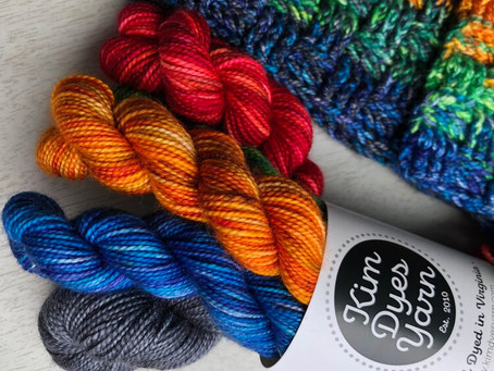 Marl the Spectrum Kits with Kim Dyes Yarn