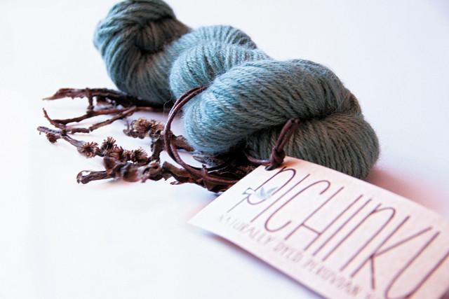 Pichinku, Naturally Dyed Peruvian Yarn in Teal (image courtesy of Dana Blair)