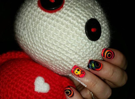 Psychedelic Voodoo Doll Nails