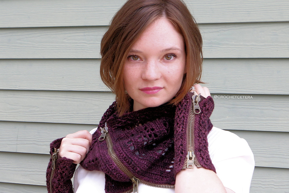 Cosmos Flower Scarf, designed by Connie Lee Lynch of CrochEt Cetera by Connie Lee