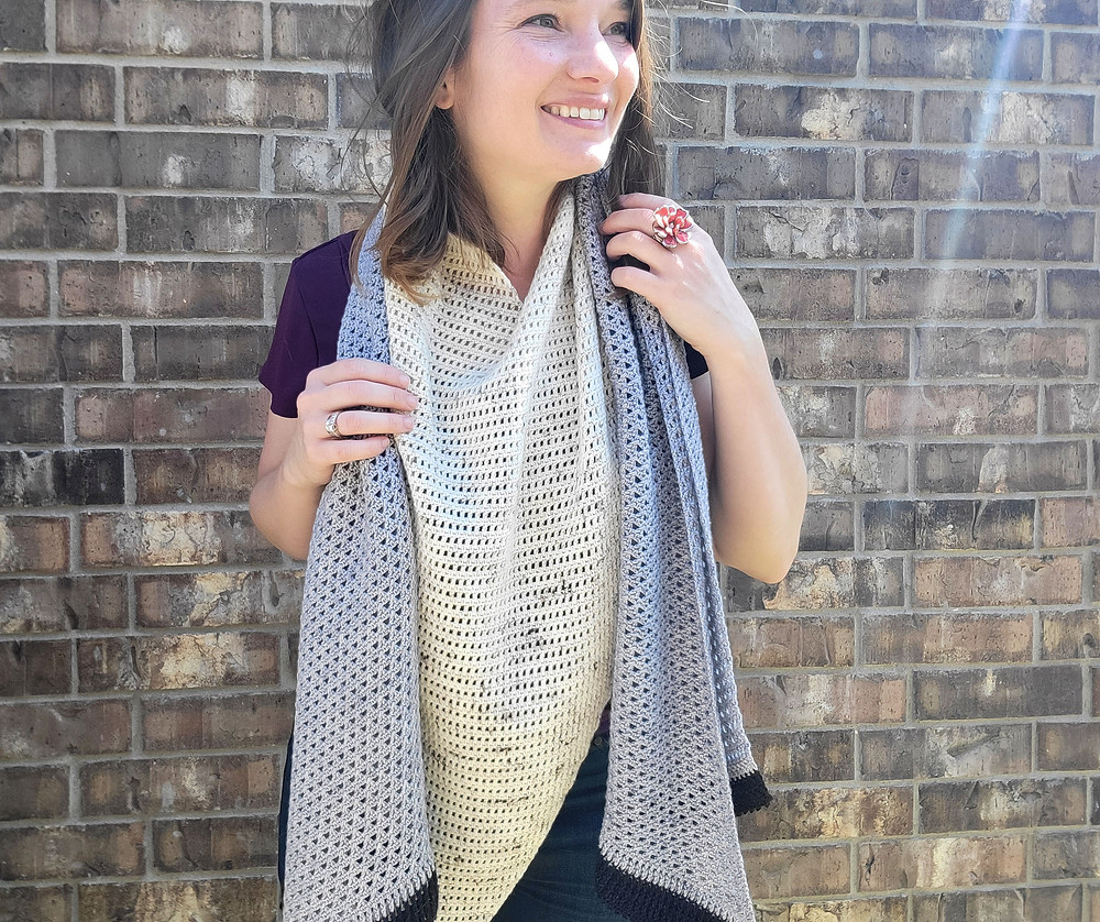 Herring Gull Wrap Crochet Design by Connie Lee Lynch of CrochEt Cetera by Connie Lee