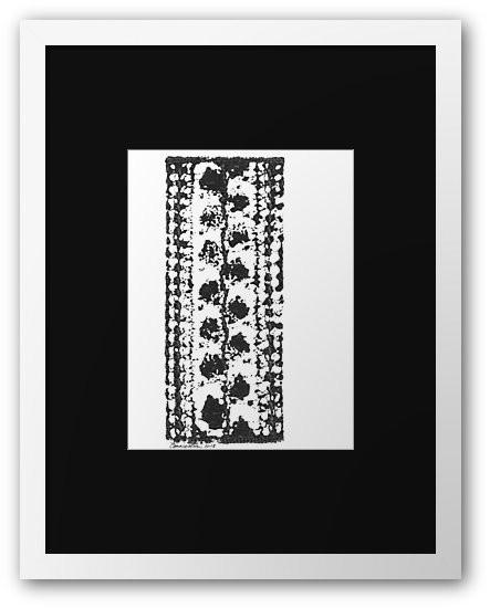 Crochet Impressions: LEAVES framed print on Redbubble
