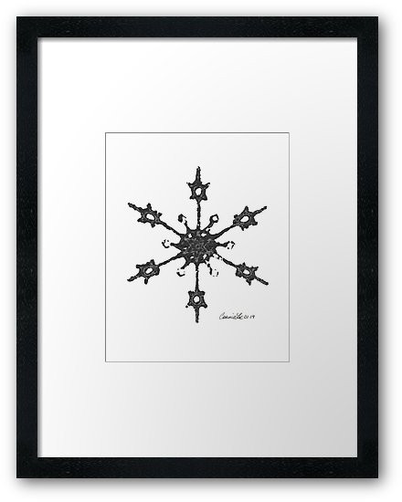 Crochet Impressions: SNOWFLAKE by Connie Lee Lynch, Framed Art Print on Redbubble