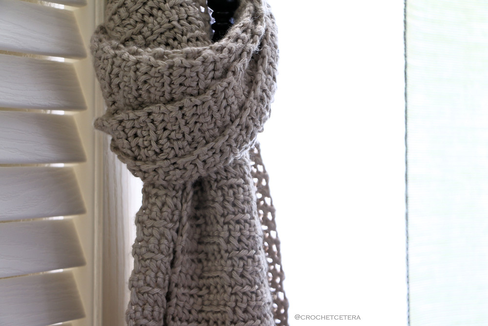 Persiennes Scarf Detail by CrochEt Cetera by Connie Lee