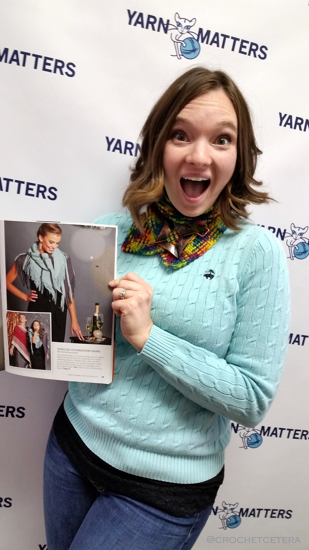 SO excited to see my name in print! Love of Crochet Winter 2017 Magazine Release at Yarn Matters