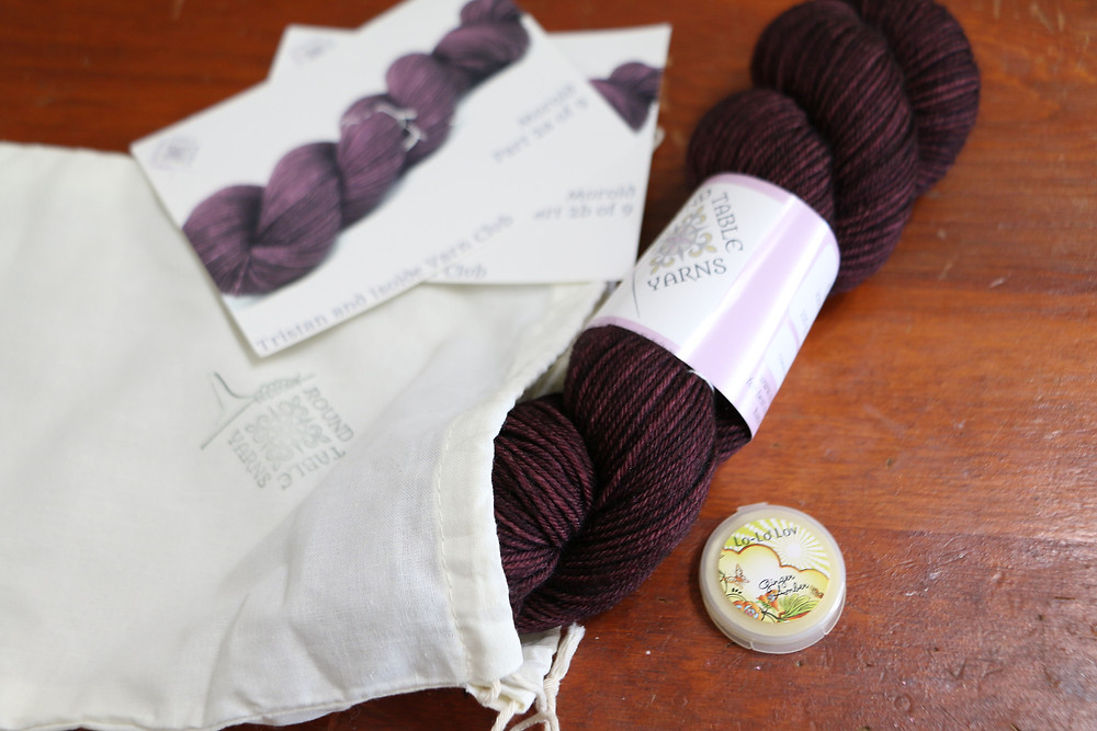 Avalon in Blancheflor and Rivalin by Karen Robinson of Round Table Yarns for the Tristan and Isolde Yarn Club