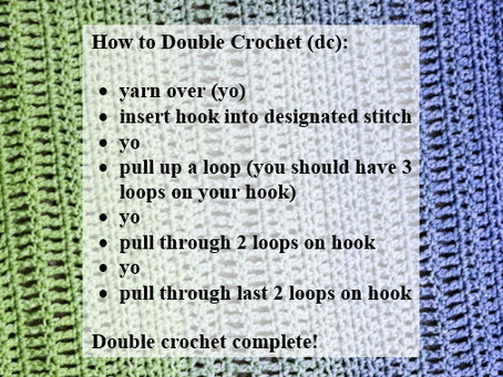 Crash Courses with Connie Lee: Double Crochet Video Tutorial