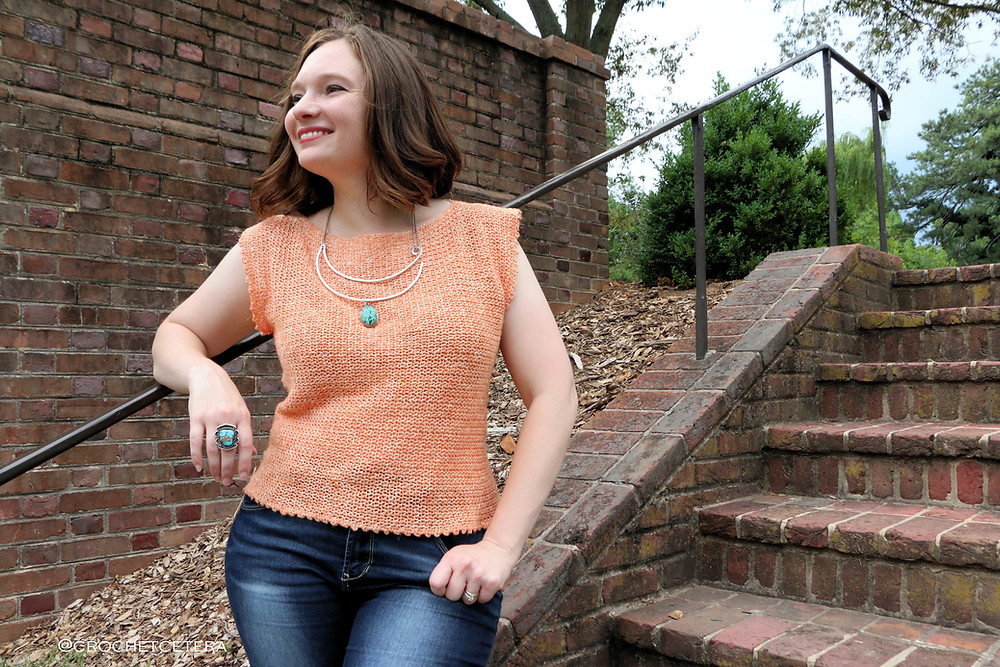 Soulfire Top, designed and crocheted by Connie Lee Lynch of CrochEt Cetera by Connie Lee
