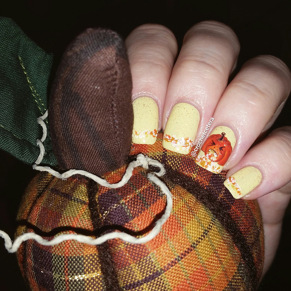 Puking Pumpkin Nail Art