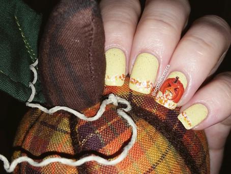 Puking Pumpkin Nail Art