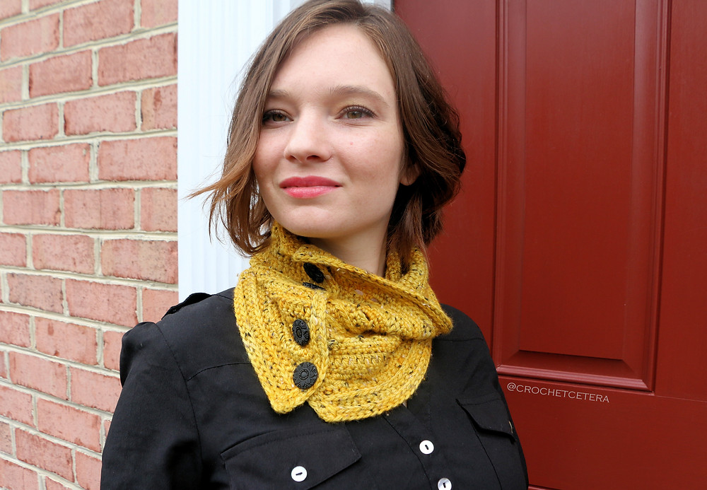 The Indubious Neck Warmer, designed by Connie Lee Lynch of CrochEt Cetera by Connie Lee