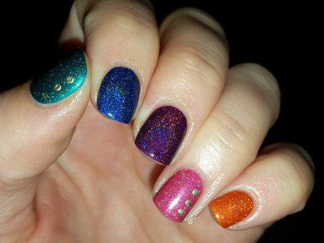 Holo Party Ombre Nails