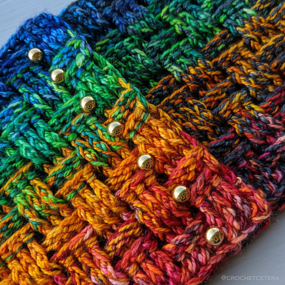 Marl the Spectrum Cowl with Kim Dyes Yarn