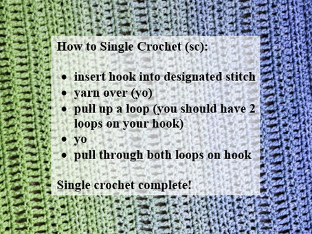 Crash Courses with Connie Lee: Single Crochet Video Tutorial