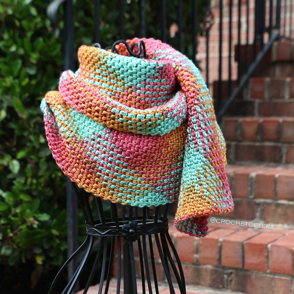Happy Argyle Scarf by CrochEt Cetera by Connie Lee