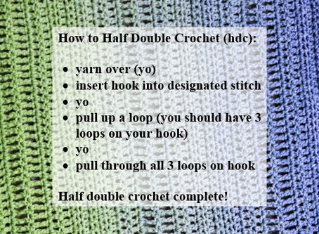 Crash Courses with Connie Lee: Half Double Crochet Video Tutorial