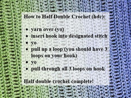 Crash Courses with Connie Lee: Half Double Crochet Video Tutorial