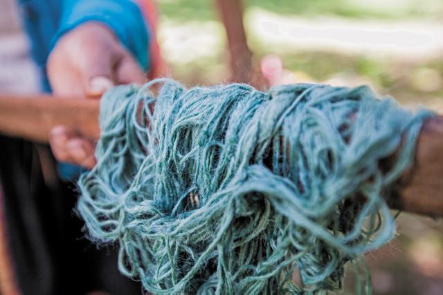 Pichinku, Naturally Dyed Peruvian Yarn (image courtesy of Dana Blair)
