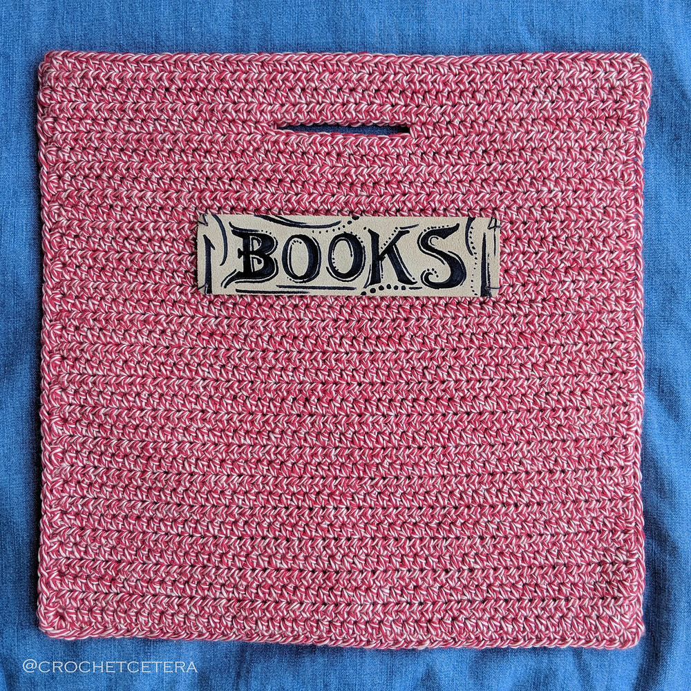 Lickety Split Library Sack laid flat after joining.