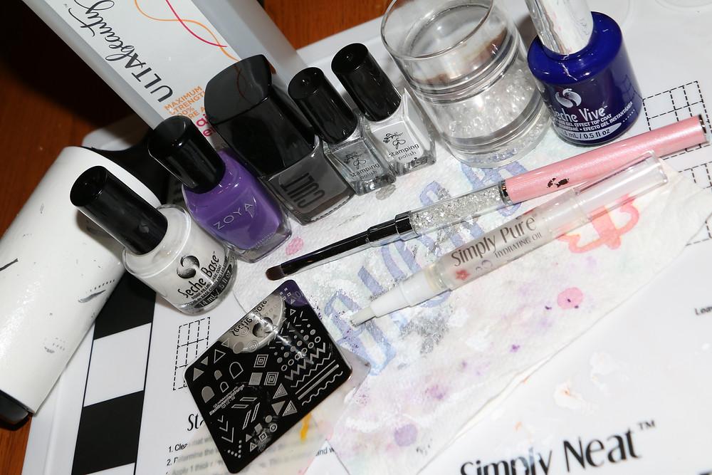 Neon Floral Lace Nails Setup