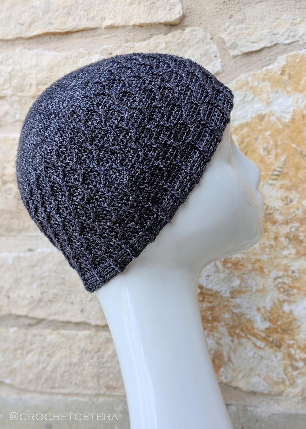 Bifurcation Beanie Crochet Pattern by Connie Lee Lynch of CrochEt Cetera by Connie Lee